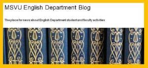 MSVU English Dept. blog header