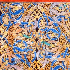 Detail from an Anglo-Saxon manuscript