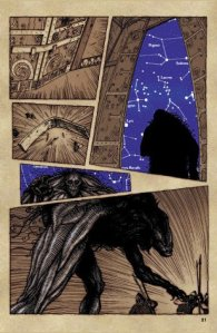 from the graphic novel Beowulf by Gareth Hinds