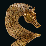 Stylized horse head from the Staffordshire Hoard