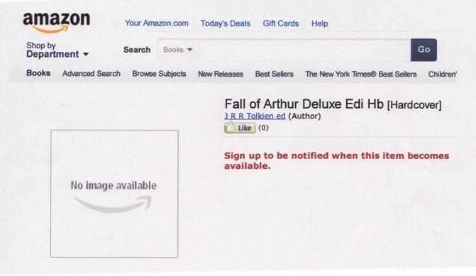 Amazon.com Fall of Arthur