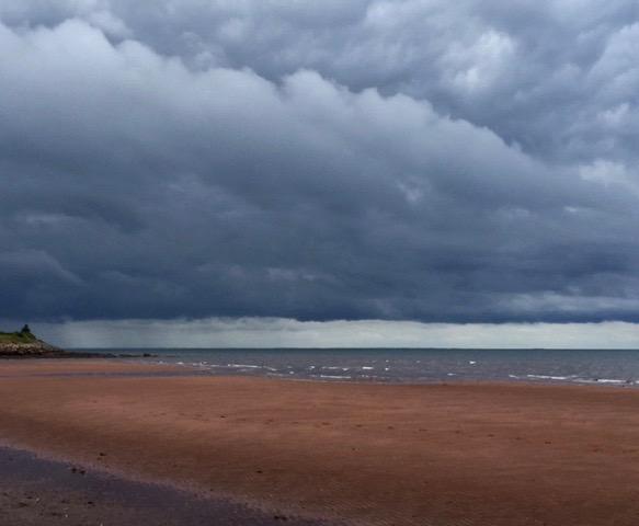 Atlantic seashore and clouds