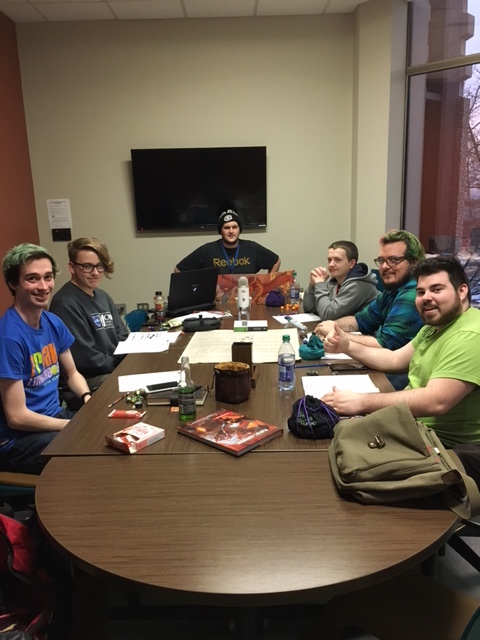 Luke Hammond and his D&D research team