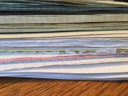 Today's stack of marking awaits