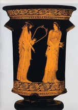 Alcaeus and Sappho Vase c 470 BCE