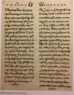 Tolkien, King's Letter second version. Art of LotR 187