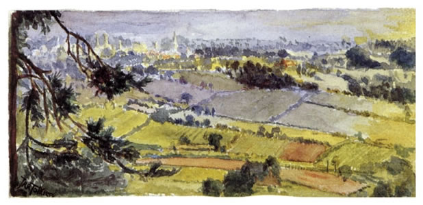 Tolkien, King's Norton from Bilberry Hill
