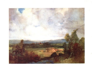 """William Russell Flint. Watercolour. """"And the eye travels down to Oxford's towers"""""""