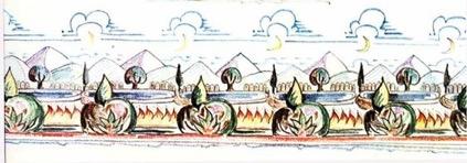 Tolkien, detail from Three Friezes