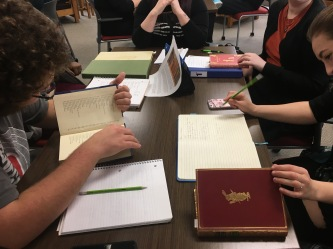 ENGL WRIT 2223 students working in the MacDonald Room