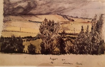 Tolkien. Lambourn, Berks. Watercolour. Artist&Illus. fig 11
